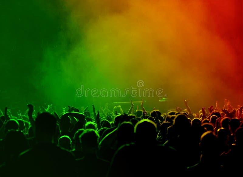 Multidão no concerto imagem de stock royalty free