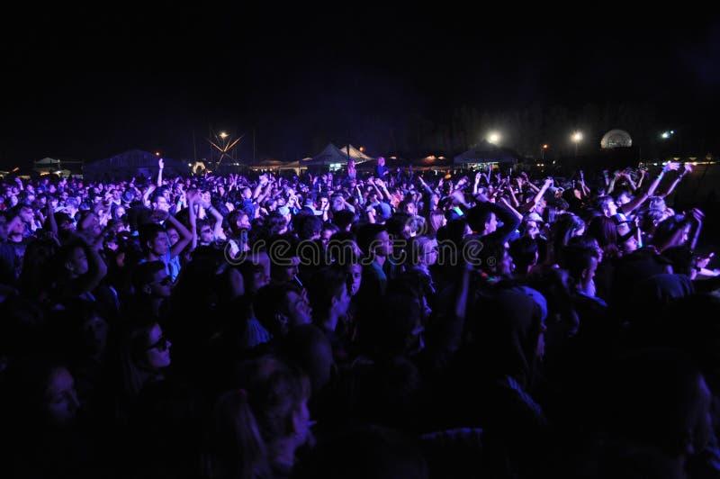 Multidão no festival de música fotos de stock royalty free