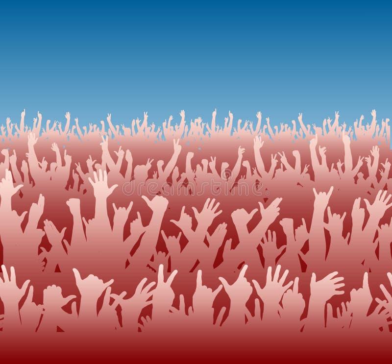 Multidão vermelha ilustração royalty free