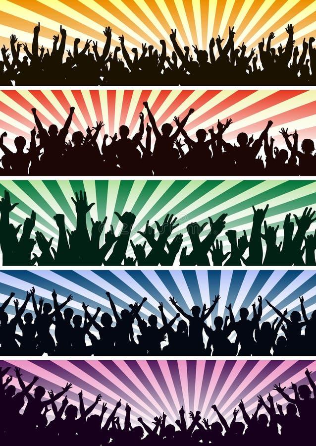 Multidões do concerto