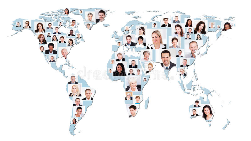 Multiethnic business people on world map stock photo image of download multiethnic business people on world map stock photo image of collage colleague gumiabroncs Image collections