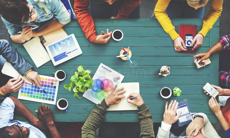 Multiethnic Designer Brainstorming Contemporary Concept royalty free stock images
