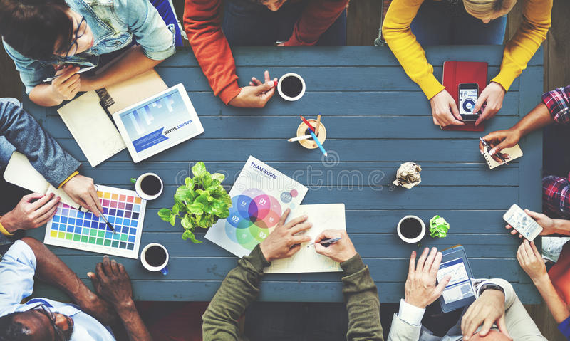 Multiethnic Designer Brainstorming Contemporary Concept royalty free stock photo
