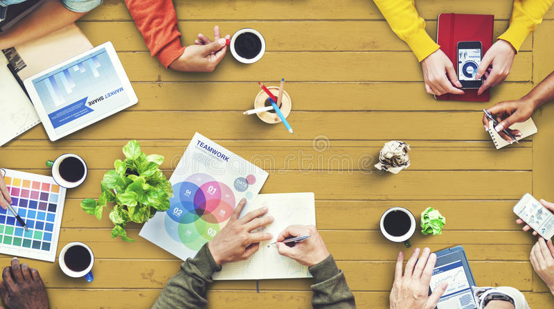 Multiethnic Designer Brainstorming Contemporary Concept royalty free stock image