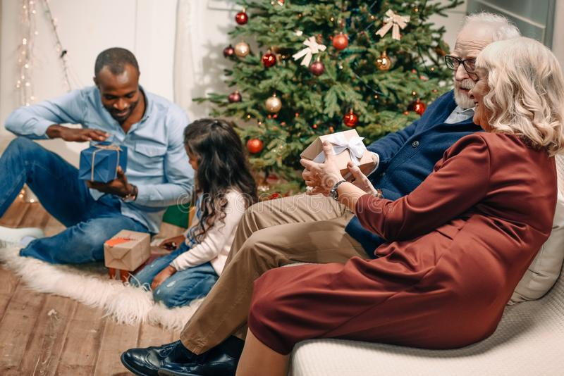 multiethnic family spending time together stock photos