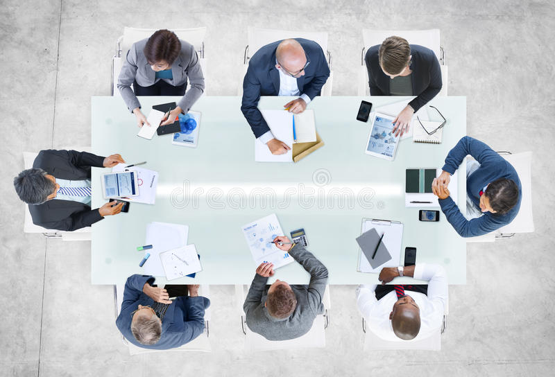 Multiethnic Group of Business People Meeting royalty free stock image