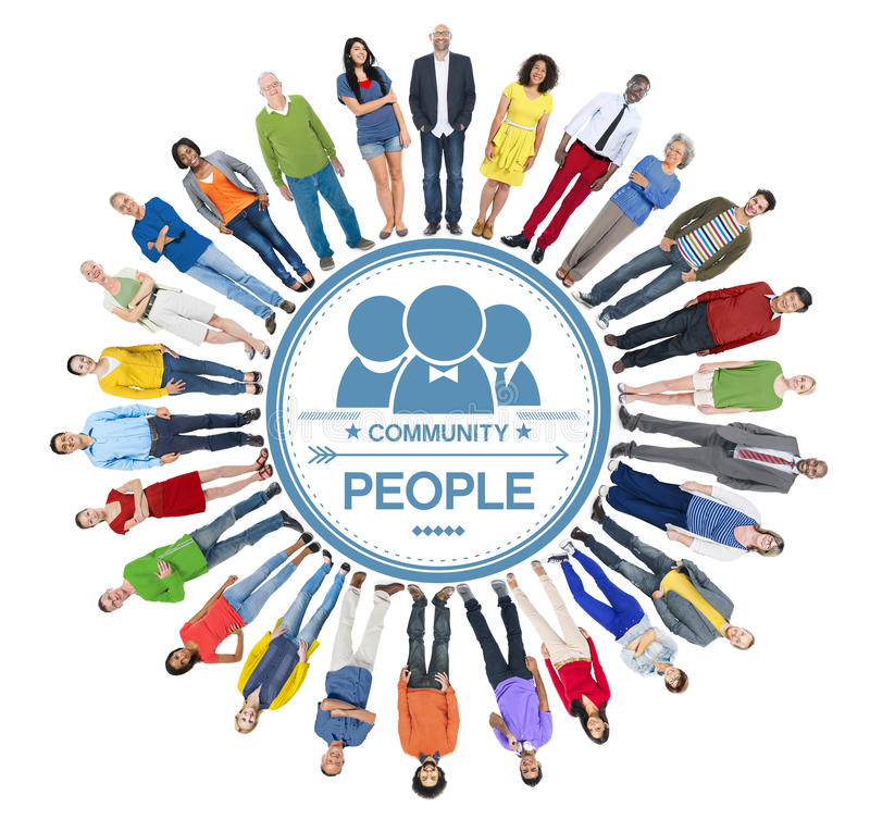 Multiethnic Group of People and Community Concept.  vector illustration