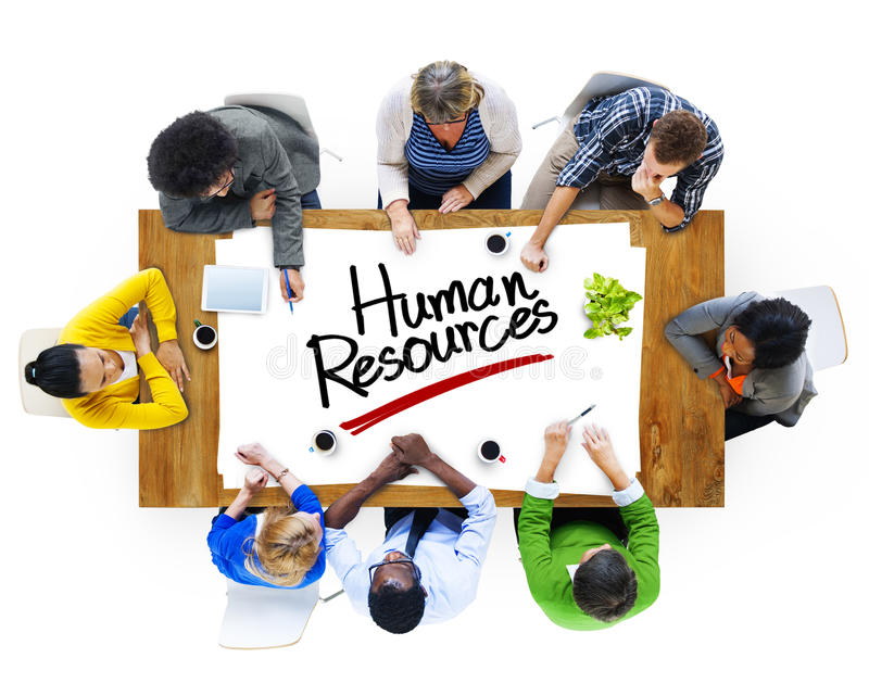Multiethnic Group of People Discussing About Human Resources stock photos