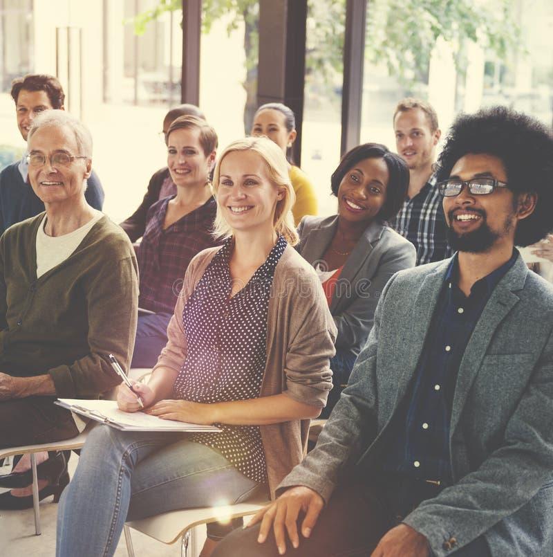 Multiethnic Group Seminar Training Boardroom Concept royalty free stock photo
