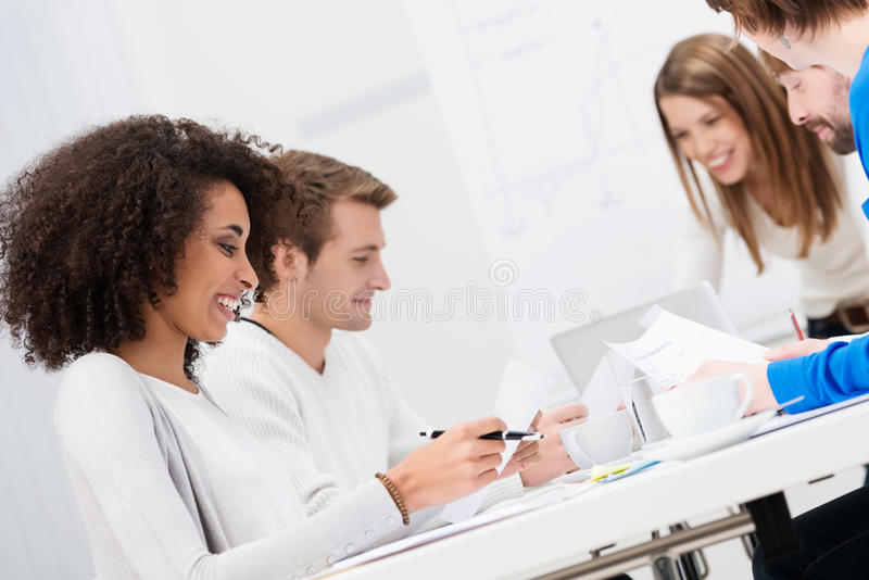 Download Multiethnic Happy Business Team Stock Image - Image: 37411629
