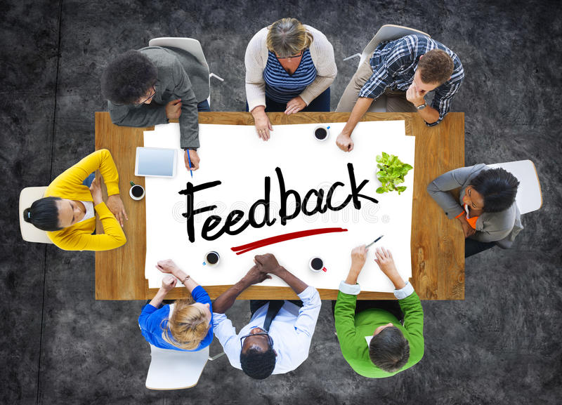 Multiethnic People Discussing About Feedback royalty free stock photo