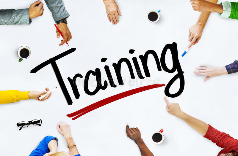 Multiethnic People Discussing About Training.  royalty free stock photo