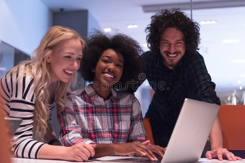 Download Multiethnic Startup Business Team On Meeting Stock Photo - Image of creative, coffee: 83711036