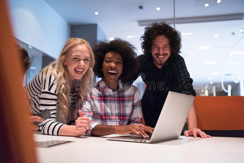 Download Multiethnic Startup Business Team On Meeting Stock Photo - Image: 83712769