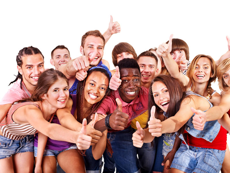 Multiethnische Gruppenleute. stockfotos