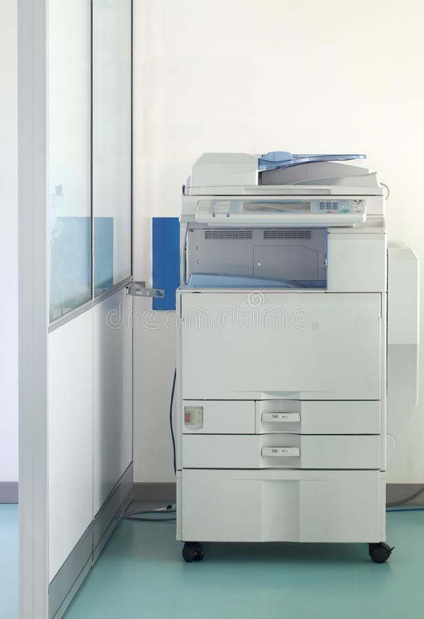 Multifunction printer. In a corridor stock photos
