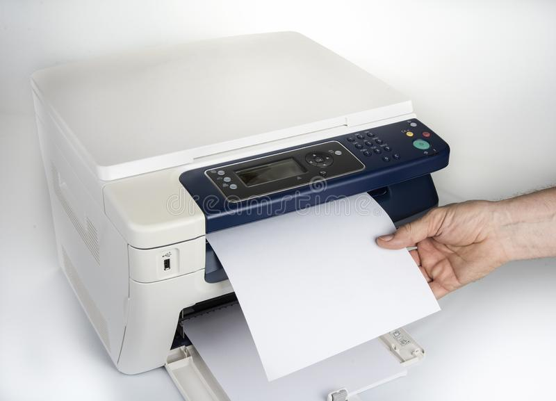 Multifunction printer  for printing scanning and copying royalty free stock images