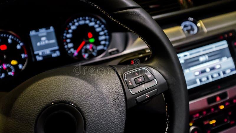 Multifunction steering wheel royalty free stock photos