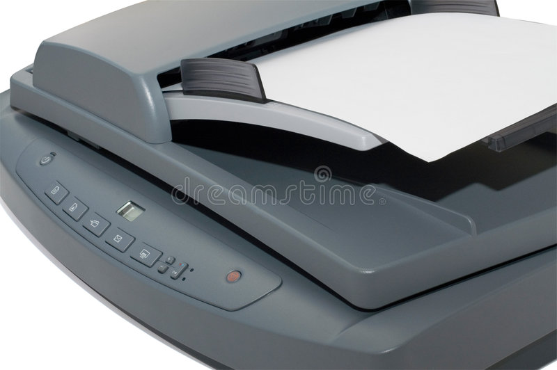 Multifunctional flatbed scanner stock photo