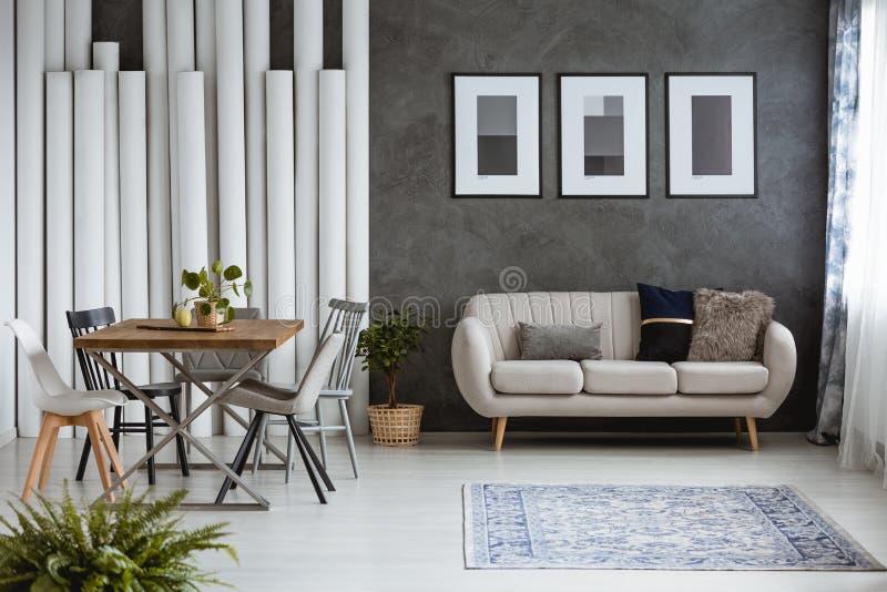 Download Multifunctional Monochromatic Living Room Stock Photo