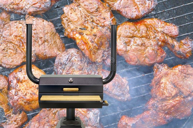 Multifunctionele kokende oven, geroosterd vlees royalty-vrije stock afbeeldingen