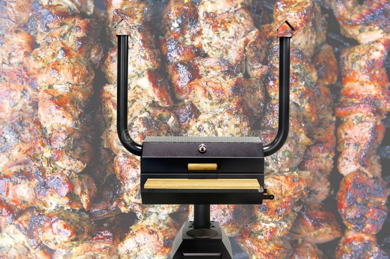 Multifunctionele kokende oven, shashlik stock afbeeldingen