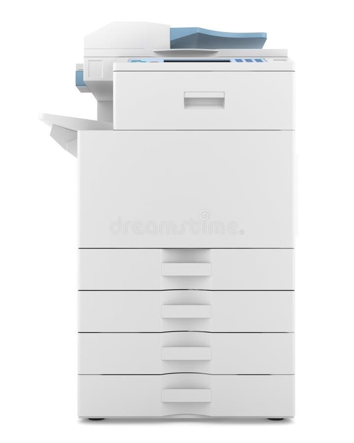 Multifunktionsdrucker des modernen Büros getrennt lizenzfreie abbildung