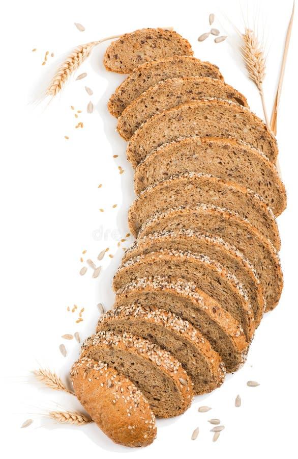 Multigrain有机面包 免版税库存照片