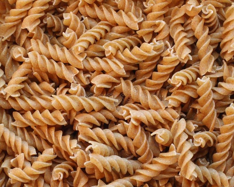 Multigrain spiral pasta royalty free stock photography