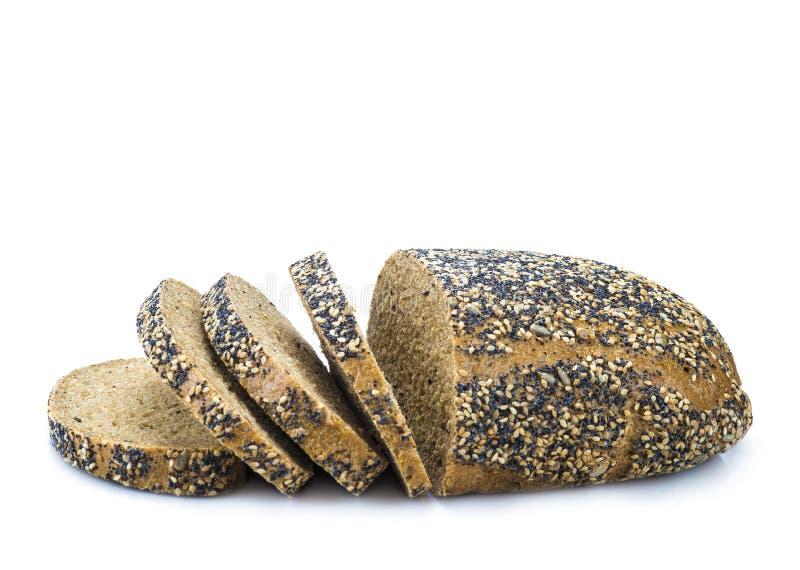 Multigrain svart bröd arkivfoto