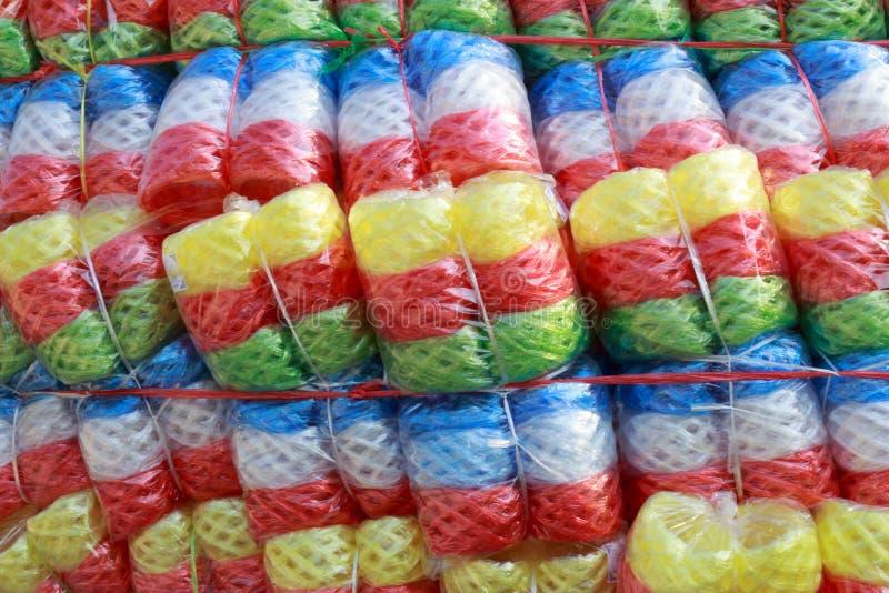 Multikleuren Plastic kabel op vrachtwagen royalty-vrije stock foto