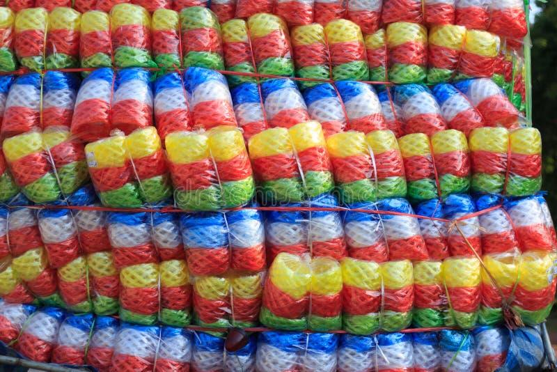 Multikleuren Plastic kabel op vrachtwagen royalty-vrije stock fotografie