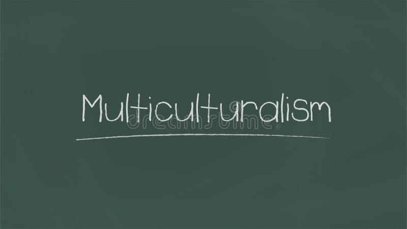 Multikulturalismuswort lizenzfreie abbildung