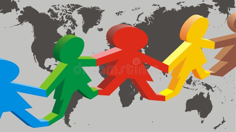 Multikulturelle Gesellschaft lizenzfreie abbildung