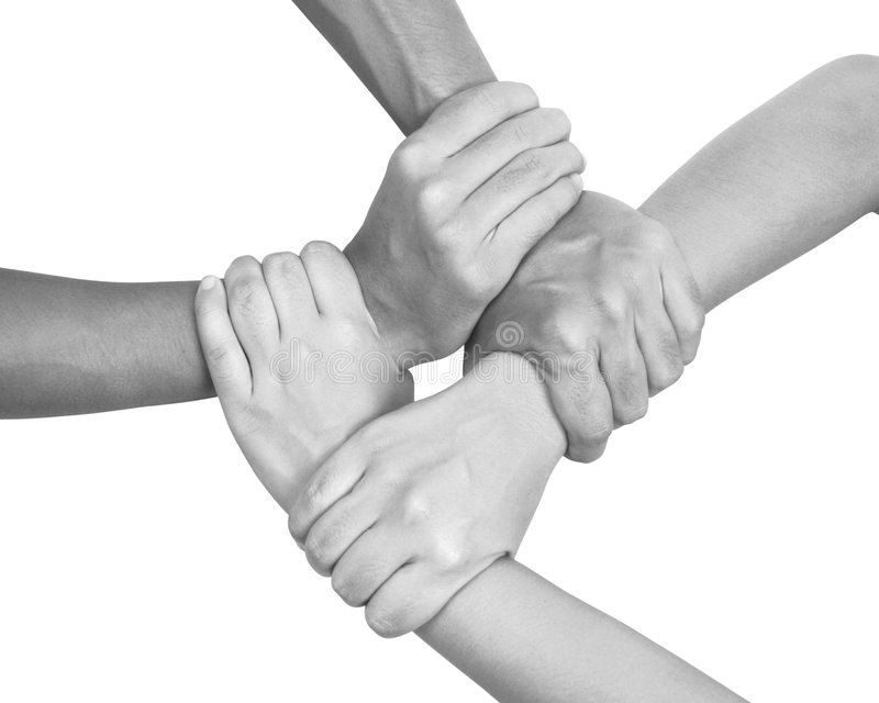 Multikulturelle Hände (Serie) lizenzfreies stockbild