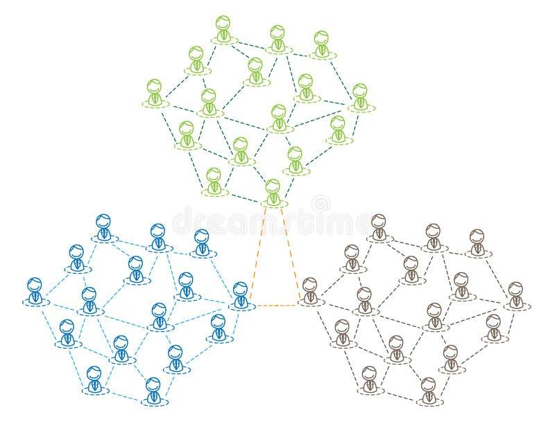 multilevel marketing vektor illustrationer