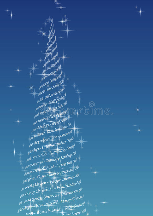 Download Multilingual Christmas Tree Stock Vector - Illustration: 21859765