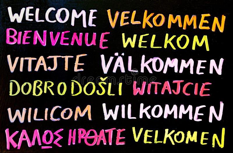 Download Multilingual Welcome Sign stock image. Image of translation - 17626097
