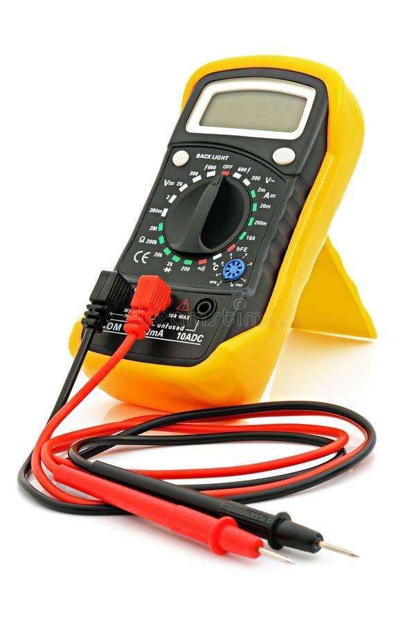 Multimètre avec des câbles photo libre de droits