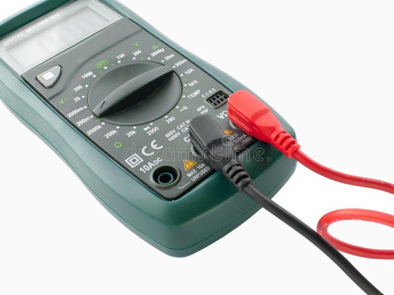 multimètre de mesure digital d'appareillage électrique  image libre de droits