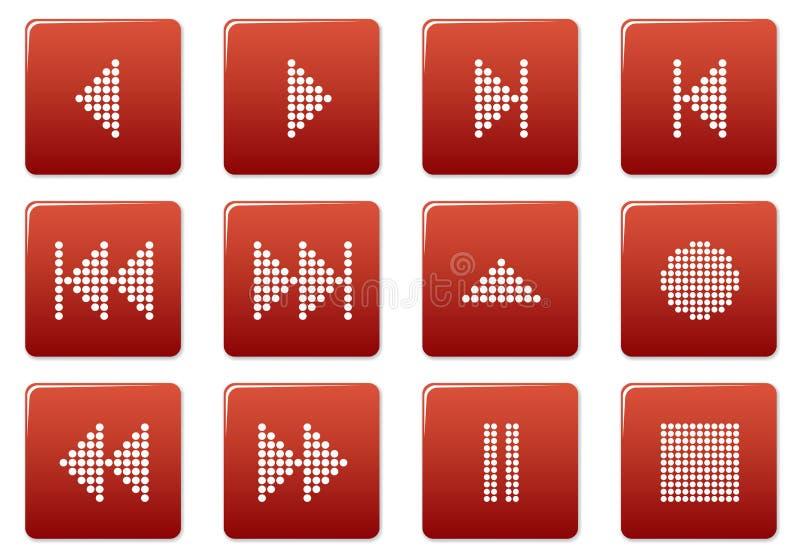 multimédia de boutons réglés illustration libre de droits