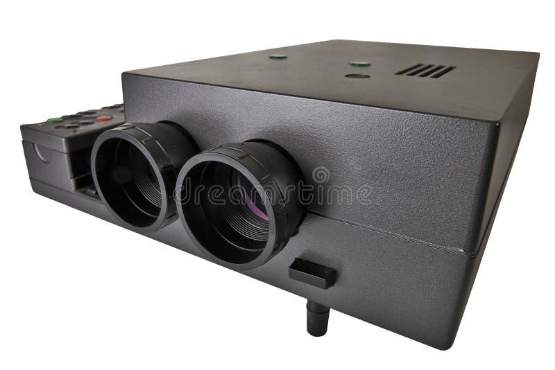 Multimédia de projecteur avec deux lentilles photos libres de droits