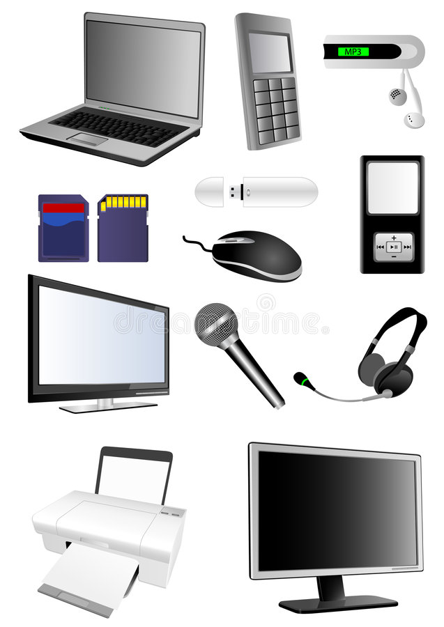 Download Multimedia illustrazione vettoriale. Illustrazione di cuffie - 7302700