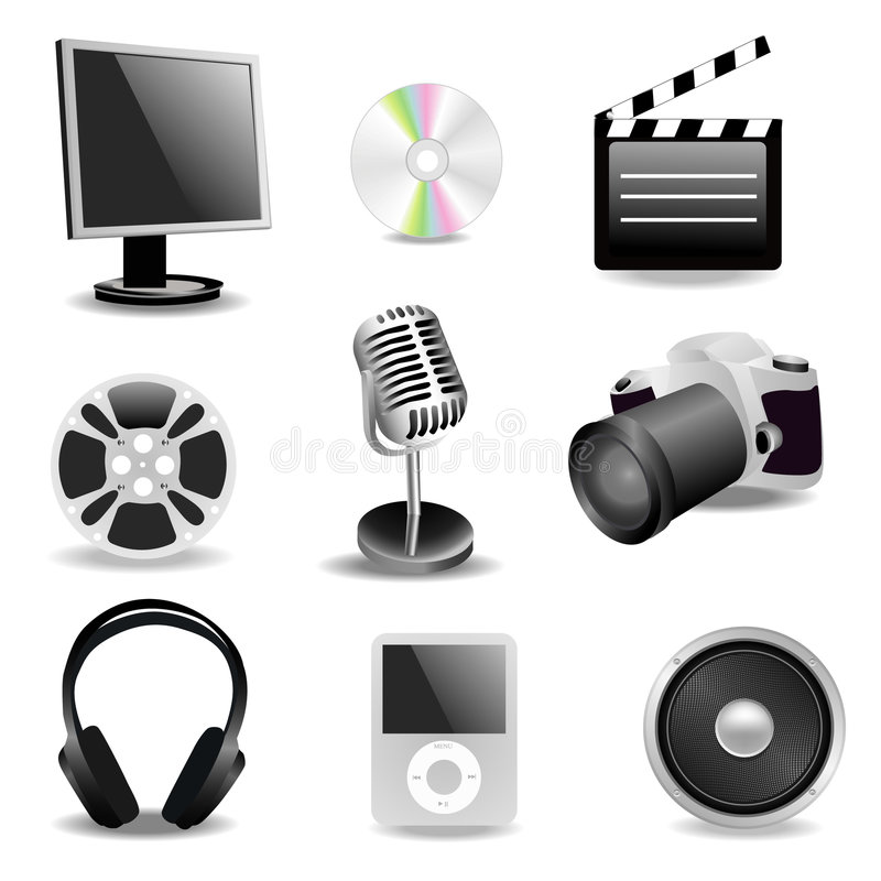 Download Multimedia stock vector. Illustration of film, modern - 8471220