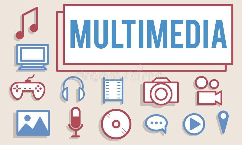 Multimedia-Animations-Computer-Animations-Digital-Konzept vektor abbildung