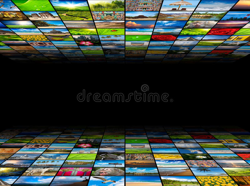 Multimedia background royalty free stock photos