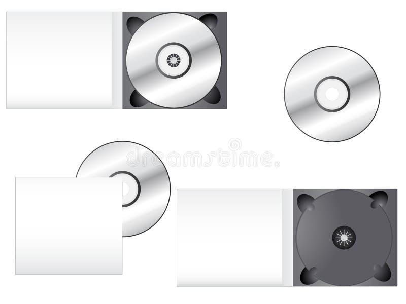 Multimedia CD Verpacken stock abbildung