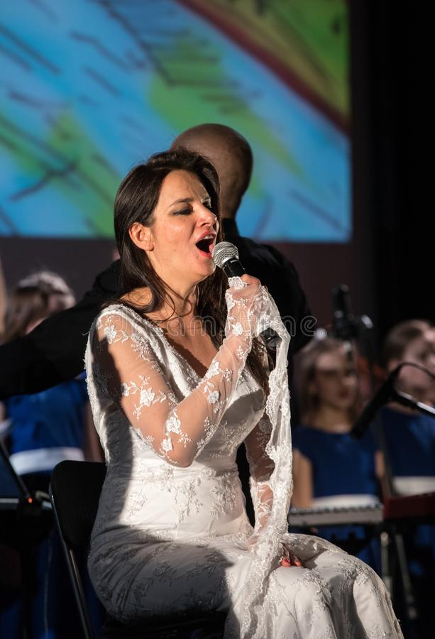 The Multimedia Christmas Oratory - to Bethlehem performed by the Filharmonia Futura and Choir Fermata. Cracow. Poland. Cracow, Poland - December 7, 2018: the stock photo