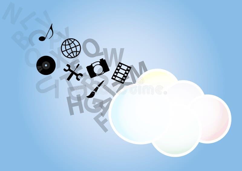 Download Multimedia cloud stock vector. Image of vector, disk - 28883332