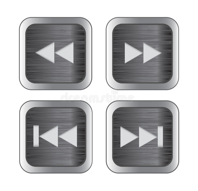 Multimedia Control Icons Royalty Free Stock Images